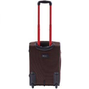 Маленький чемодан (S) Wings 214-2k | тканевый | коричневый | 52х36х23(+5) см | 37/45 л | 3,05 кг