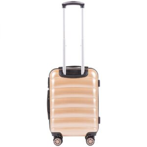 Маленький чемодан (S) Wings 160 | поликарбонат | шампань | 55x40x20 см | 35 л | 2,6 кг