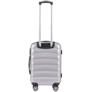 Маленький чемодан (S) Wings 160 | поликарбонат | серебряный | 55x40x20 см | 35 л | 2,6 кг