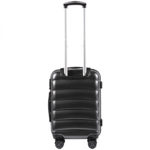 Маленький чемодан (S) Wings 160 | поликарбонат | темно-серый | 55x40x20 см | 35 л | 2,6 кг