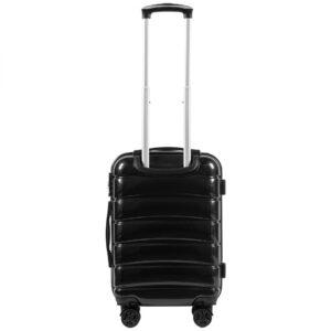 Маленький чемодан (S) Wings 160 | поликарбонат | черный | 55x40x20 см | 35 л | 2,6 кг