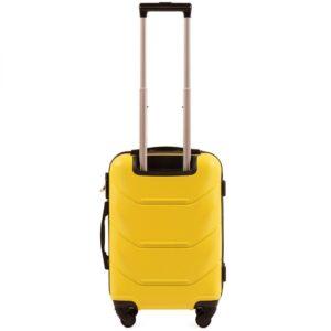 Маленький чемодан (S) Wings 147 | пластиковый | желтый | 55x40x20 см | 35 л | 2,6 кг