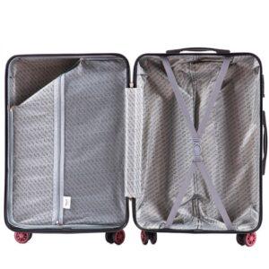 Маленький чемодан (S) Wings 5223 | поликарбонат | черный | 55x40x20 см | 35 л | 2,6 кг