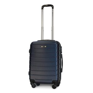 Маленький чемодан (S) Fly 1107 | пластиковый | темно-синий | 55x40x20 см | 35 л | 2,6 кг