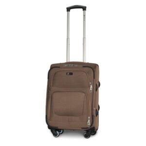 Маленький чемодан (S) на 4 колесах | Fly 6802-4k | тканевый | для ручной клади