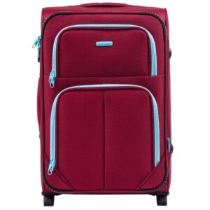 Большой чемодан (L) на 2 колесах   Wings 214-2k   тканевый