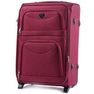 Средний чемодан (M) на 2 колесах   Wings 6802-2k   тканевый