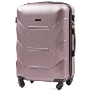 Средний чемодан (M) Wings 147 | пластиковый | розово-золотой | 64x44x26 см | 62 л | 3,15 кг