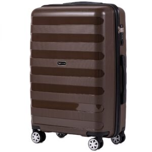 Средний чемодан (M) Wings PP07 | полипропилен | коричневый | 64x44x26 см | 62 л | 3,15 кг
