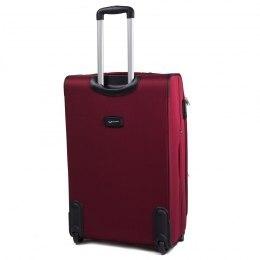 Средний чемодан (M) Wings 1708-2k | тканевый | бордовый | 62x41x27(+5) см | 64/76 л | 3,55 кг