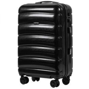 Средний чемодан (M) Wings 160   поликарбонат   черный   64x44x26 см   62 л   3,15 кг