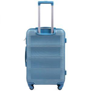 Средний чемодан (M) Wings k-203 | пластиковый