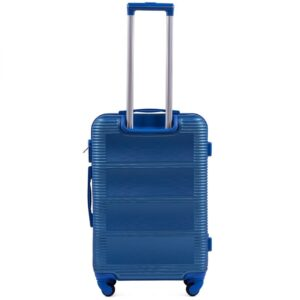 Средний чемодан (M) Wings K-203 | пластиковый | синий | 64x44x26 см | 62 л | 3,15 кг