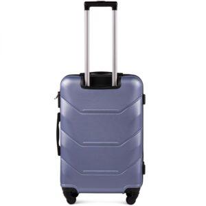 Средний чемодан (M) Wings 147 | пластиковый | серебристо-фиолетовый | 64x44x26 см | 62 л | 3,15 кг