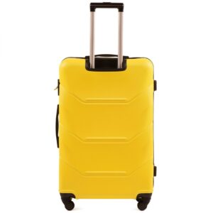 Средний чемодан (M) Wings 147 | пластиковый | желтый | 64x44x26 см | 62 л | 3,15 кг