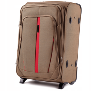 Средний чемодан (M) на 2 колесах | Wings 1706-2k | тканевый