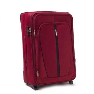 Большой чемодан (L) Wings 1706-2k | тканевый | бордовый | 71x46x31(+5) см | 88/104 л | 4,05 кг
