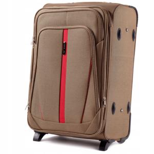 Большой чемодан (L) Wings 1706-2k | тканевый | бежевый | 71x46x31(+5) см | 88/104 л | 4,05 кг