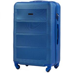 Большой чемодан (L) Wings K-203 | пластиковый | синий | 74x50x29 см | 86 л | 3,95 кг