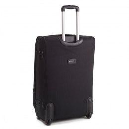 Большой чемодан (L) Wings 1708-2k | тканевый | черный | 71x46x31(+5) см | 88/104 л | 4,05 кг