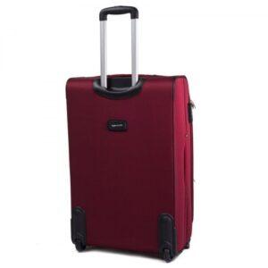 Большой чемодан (L) Wings 1708-2k | тканевый | бордовый | 71x46x31(+5) см | 88/104 л | 4,05 кг