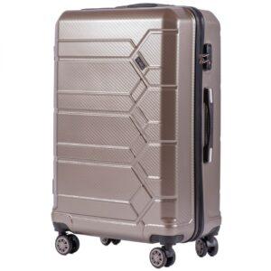 Большой чемодан (L) Wings 185 | поликарбонат | бронзовый | 74x50x29 см | 86 л | 3,95 кг