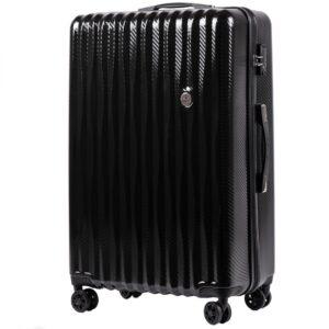 Большой чемодан (L) Wings 5223 | поликарбонат | черный | 74x50x29 см | 86 л | 3,95 кг