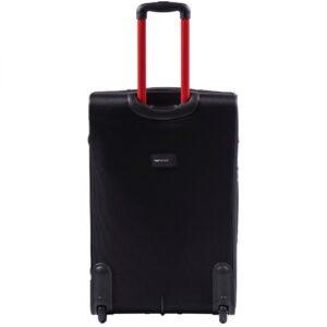 Большой чемодан (L) Wings 214-2k | тканевый | черный | 71x46x31(+5) см | 88/104 л | 4,05 кг