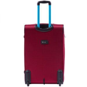Большой чемодан (L) Wings 214-2k | тканевый | бордовый | 71x46x31(+5) см | 88/104 л | 4,05 кг