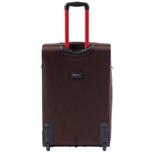 Большой чемодан (L) Wings 214-2k | тканевый | коричневый | 71x46x31(+5) см | 88/104 л | 4,05 кг