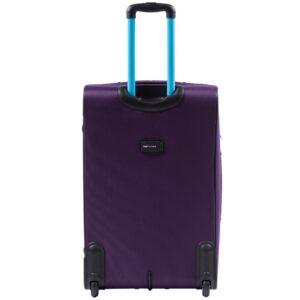 Большой чемодан (L) Wings 214-2k | тканевый | фиолетовый | 71x46x31(+5) см | 88/104 л | 4,05 кг