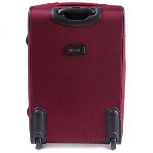 Большой чемодан (L) Wings 6802-2k | тканевый | бордовый | 71x46x31(+5) см | 88/104 л | 4,05 кг