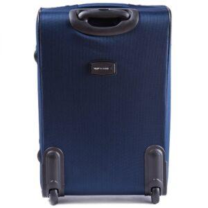 Большой чемодан (L) Wings 6802-2k | тканевый | темно-синий | 71x46x31(+5) см | 88/104 л | 4,05 кг