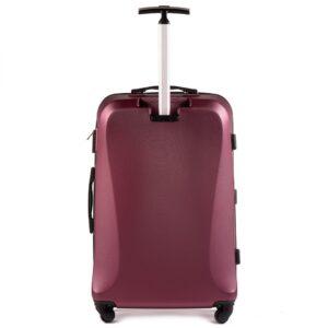 Большой чемодан (L) Wings 518 | пластиковый | бордовый | 74x50x29 см | 86 л | 3,95 кг