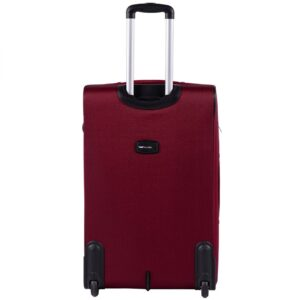 Большой чемодан (L) Wings 1605-2k | тканевый | бордовый | 71x46x31(+5) см | 88/104 л | 4,05 кг