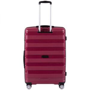 Большой чемодан (L) Wings PP07 | полипропилен | красный | 74x50x29 см | 86 л | 3,95 кг