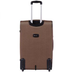 Большой чемодан (L) Wings 1605-2k | тканевый | бежевый | 71x46x31(+5) см | 88/104 л | 4,05 кг