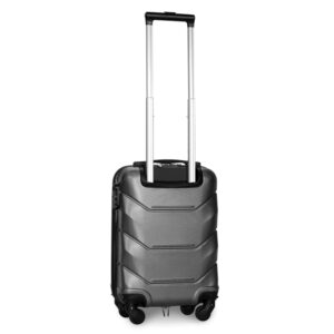 Мини чемодан (XS) Fly 147 | пластиковый | серебряный | 50x32x18 см | 27 л | 2,4 кг
