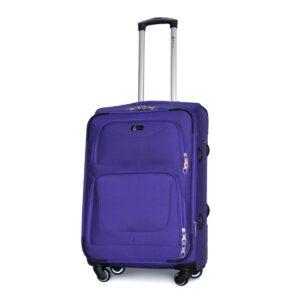 Средний чемодан (M) Fly 1220-4k   тканевый   фиолетовый   64x43x28(+5) см   64/76 л   3,75 кг