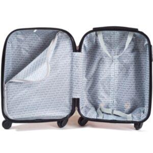 Маленький чемодан (S) Wings K-310 | пластиковый | серебристо-синий | 55x40x20(+5) см | 35/47 л | 2,6 кг