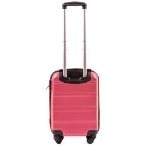 Мини чемодан (XS) Wings AT01 | пластиковый | розово-красный | 50x32x18 см | 27 л | 2,4 кг