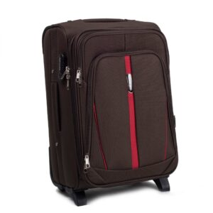 Маленький чемодан (S) Wings 1706-2k | тканевый | коричневый | 52х36х23(+5) см | 37/45 л | 3,05 кг