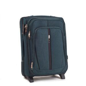Маленький чемодан (S) Wings 1706-2k | тканевый | темно-зеленый | 52х36х23(+5) см | 37/45 л | 3,05 кг