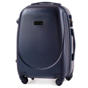 Маленький чемодан (S) Wings K-310 | пластиковый | темно-синий | 55x40x20(+5) см | 35/47 л | 2,6 кг