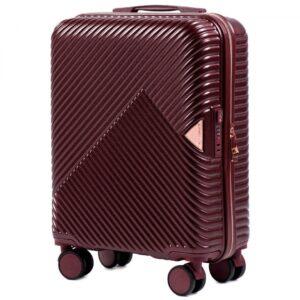 Маленький чемодан (S) Wings WN01 | ABS + поликарбонат | бордовый | 55x40x20 см | 35 л | 2,6 кг