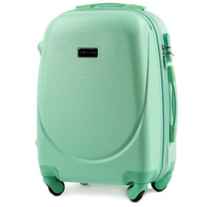 Маленький чемодан (S) Wings K-310 | пластиковый | ментоловый | 55x40x20(+5) см | 35/47 л | 2,6 кг