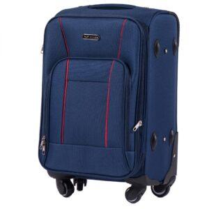 Маленький чемодан (S) Wings 1609-4k | тканевый | темно-синий | 54х37х24(+5) см | 37/45 л | 3,25 кг