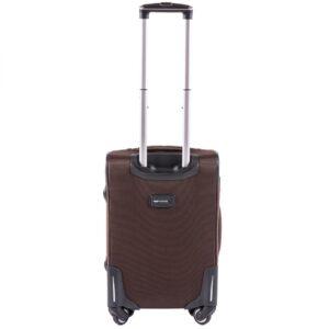 Маленький чемодан (S) Wings 214-4k | тканевый | коричневый | 54х37х24(+5) см | 37/45 л | 3,25 кг