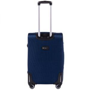 Средний чемодан (M) Wings 1609-4k | тканевый | темно-синий | 64x43x28(+5) см | 64/76 л | 3,75 кг