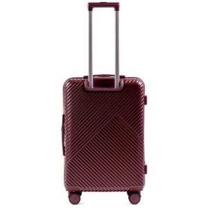 Средний чемодан (M) Wings WN01   ABS + поликарбонат   бордовый   64x44x26 см   62 л   3,15 кг